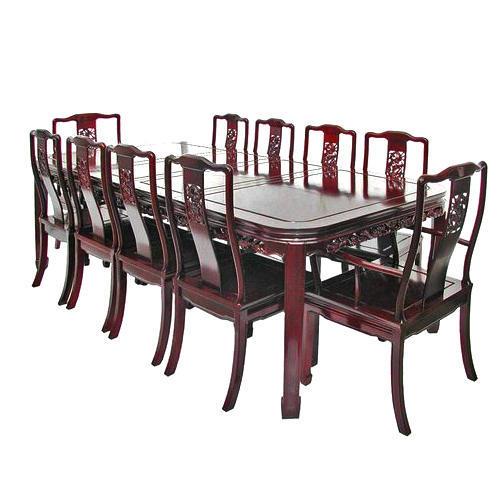 Antique Teak Wood 4 Seater Dining Table, Vintage Dining Room Sets