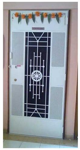 Designer Safety Door Ashok Chakra Design DSR-002