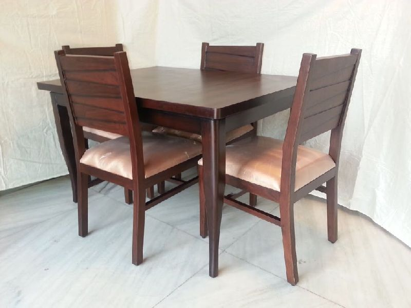 Solid Acacia Wooden 4 Seater Dining Table Set Buy Solid Acacia Wooden 4 Seater Dining Table Set