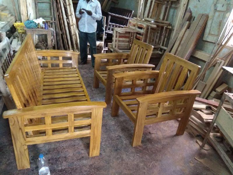 Solid Teakwood Sofa Set Manufacturer In Chennai Tamil Nadu India By Rts Furniture Manufacturing Id 5406000
