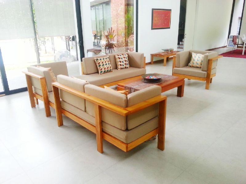 Solid Wooden Heavy Corner Sofa Set, Teak Wood Corner Sofa Set Designs Pictures