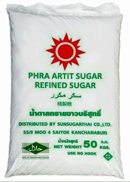 SUGAR ICUMSA 45 White (Refined)  PHA ARTIT brand From Thailand Origin.