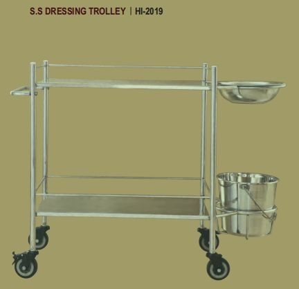Hi-2019 S.S. Dressing Trolley