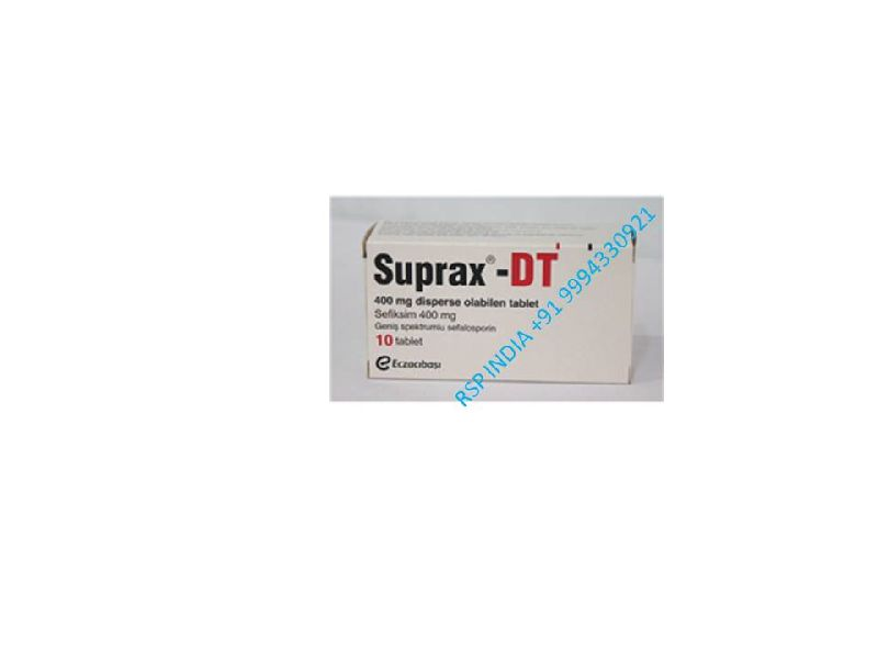 Legal suprax-dt 400 mg tablet used for