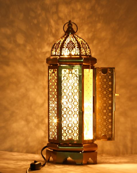 Brass Antique Lamp with LED Light