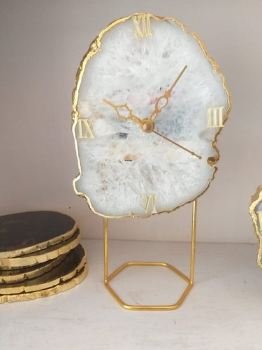 Agate Table Clock