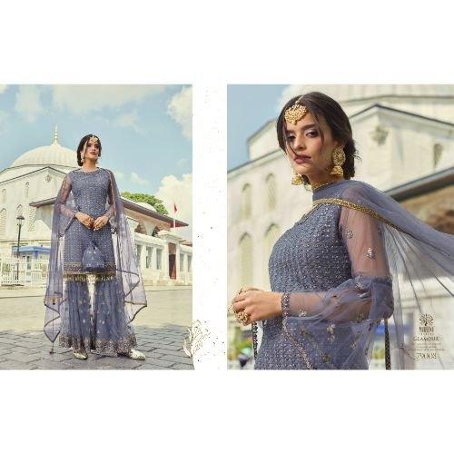 Net Pakistani Sharara Suit
