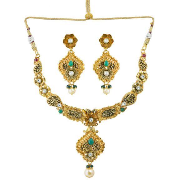 TAN533 Handmade Bandhel Necklace Set