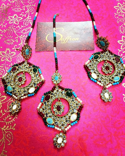 Earrings and Tikka Set