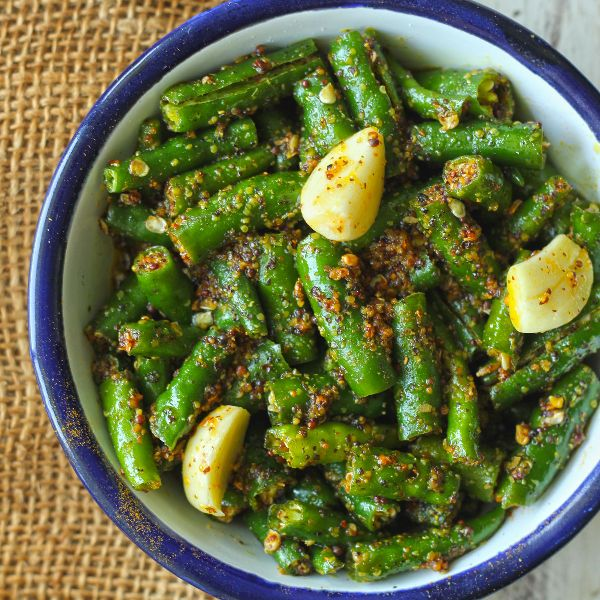 Garlic Green Chilli Pickle