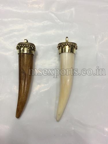 Bone Pendant with Brass Pin