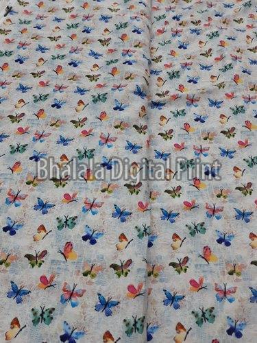 Crepe Silk Digital Printed Fabric