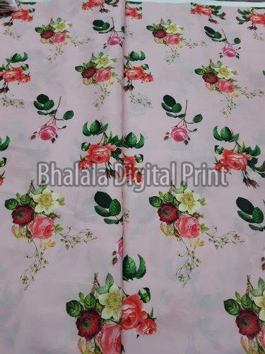 Crepe Silk Digital Printed Fabric (BDP-0E)