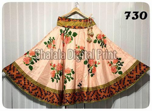 Satin Digital Printed Long Skirt (BHALALA-001)