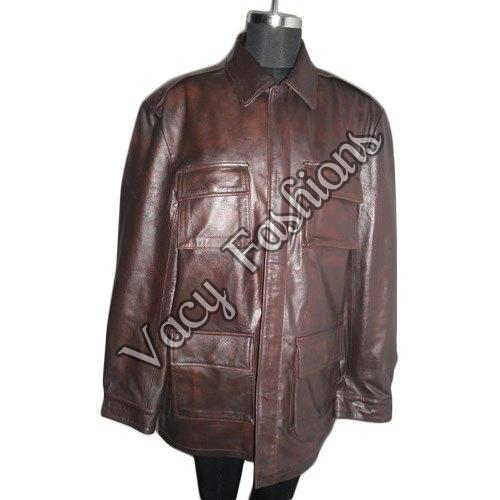 Mens Brown Goat Leather Jacket