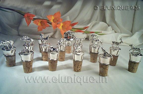 Sterling Silver Figurine  Bottle Corks (EL BR 011)