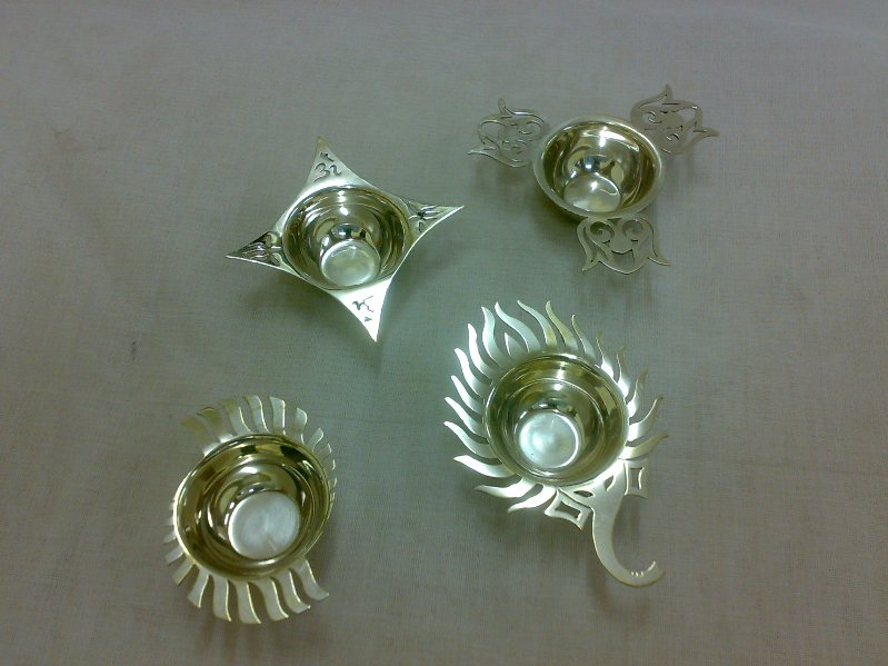 Sterling Silver Diyas