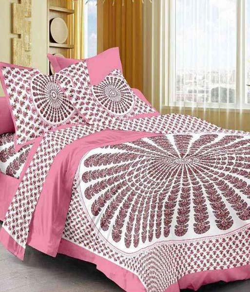 Lovely Sanganeri Printed Bed Sheet (kcd191)