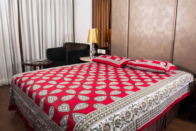 Sanganeri Printed Double Bed Sheet (KCDB03)