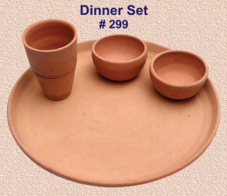 Terracotta Dinner Set & Terracotta Dinner Set Manufacturer u0026 Manufacturer from India | ID ...