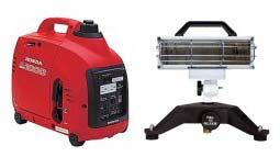 Portable ground light and generator combo (Honda eu1000i & 750 watt gr