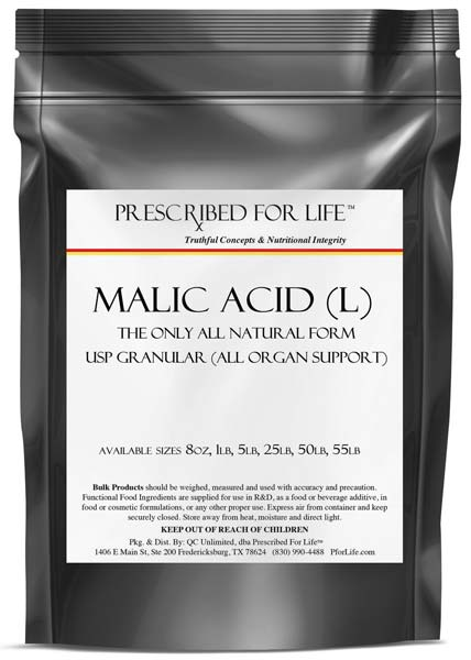 L Malic Acid - Natural Form Powder (malic-nat-5lb)