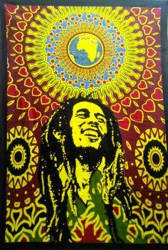Bob Marley Indian Mandala Tapestry Cotton Wall Hanging (RFT00084)