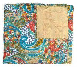 Handmade Paisley Print Indian Kantha Quilt (RFK0010)