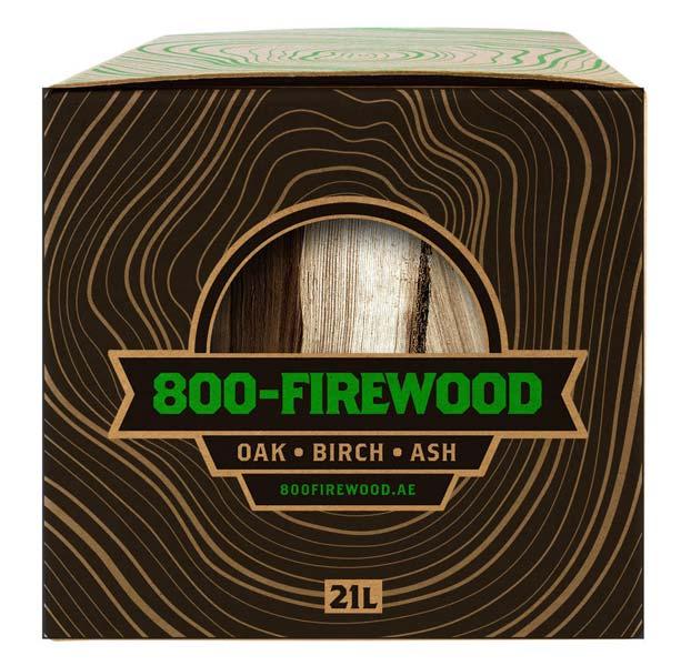 Birch Fire Wood Box (bfb21l)