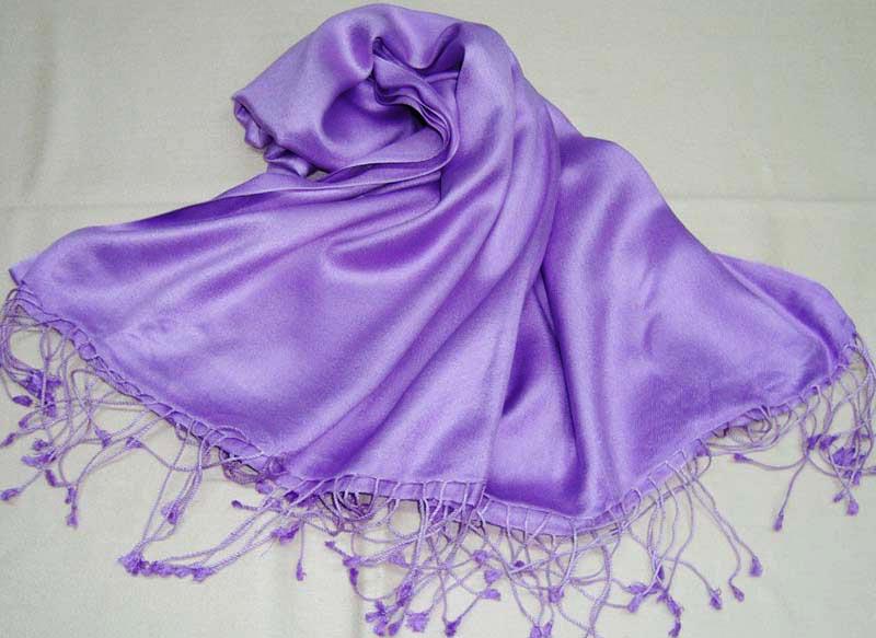 Silk Shawls Plain Dyed (SMH-1002)