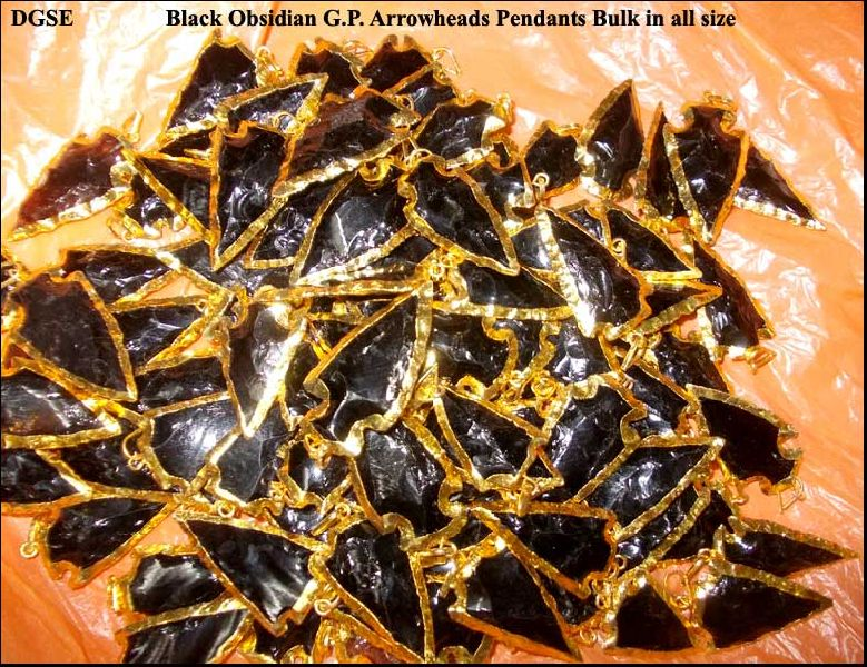 Black Obsidian Arrowhead Pendants