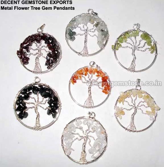Metal Flower Pendants