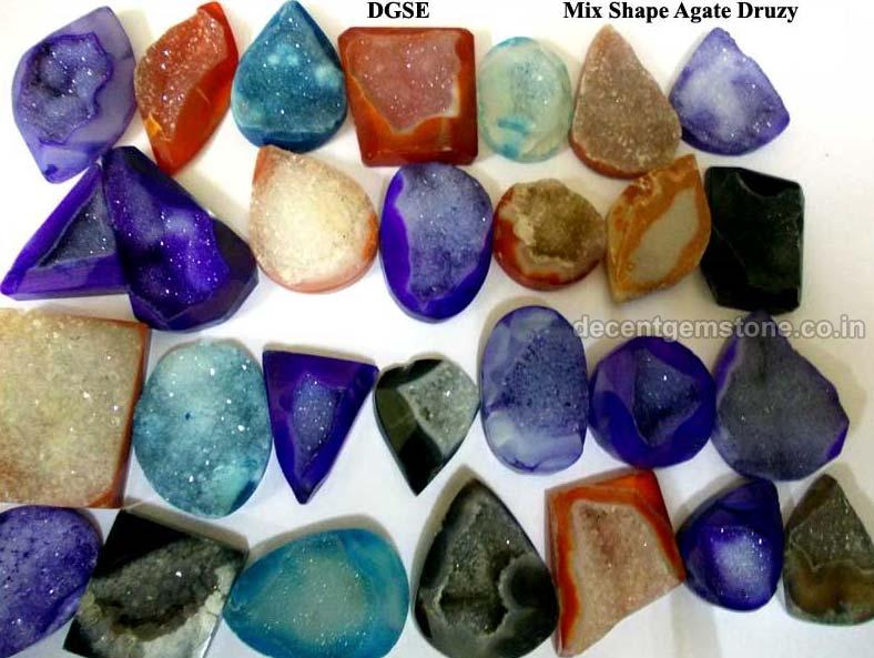 Mixed Druzy Agate Stone