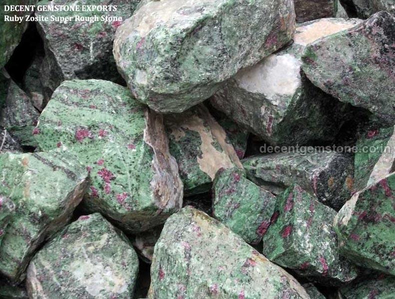 Ruby Zoisite Rough Stone