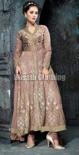 Grey Georgette Anarkali Gown