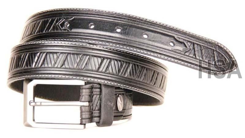 Mens Leather Belt (G58950BLK)