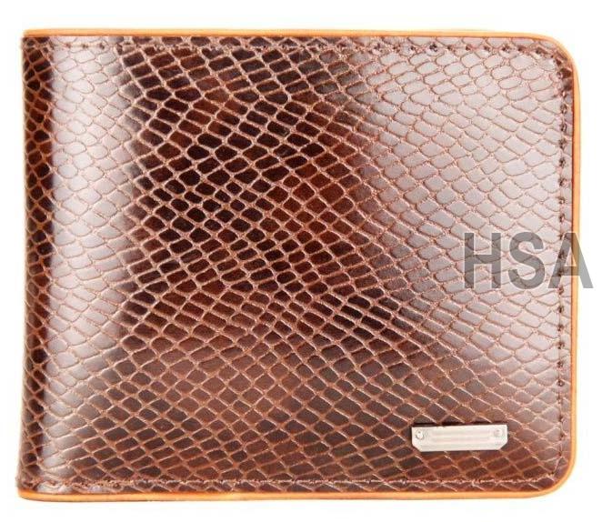 Mens Leather Wallet (F65930BRN)
