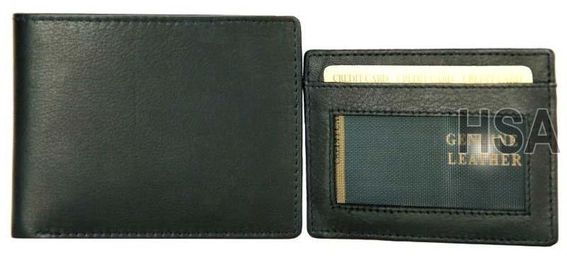 Mens Leather Wallet (STW22BLK)