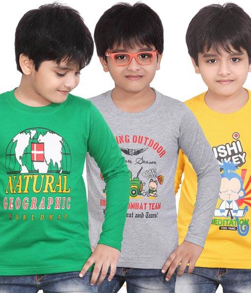 Boys Round Neck T- Shirts