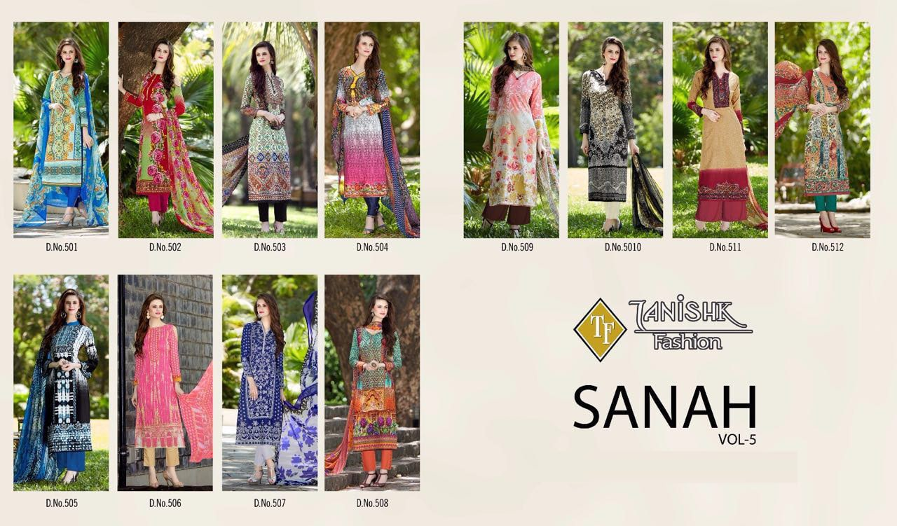 93379f1f32 Buy Shop Now Printed Sanah Vol-5 Dress Material from SIBI ...
