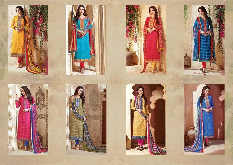 42b55a2a56 Buy Stylish Cotton Kesari Aliya-7 Dress Material from SIBI ...