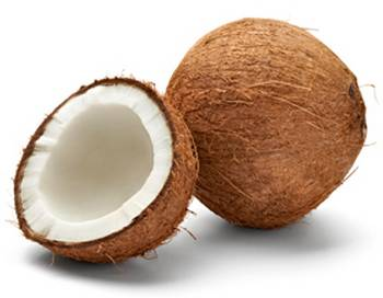 how to open a dry coconut
