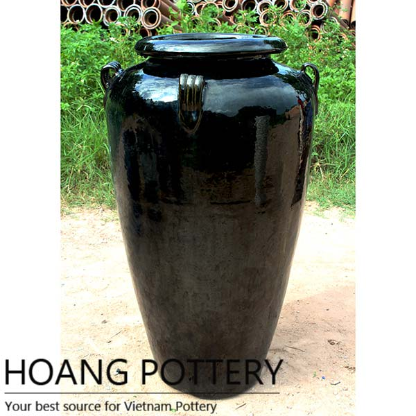Glazed Black Ceramic Flower Pots For Hall Or Out By Hoang Pottery Glazed Black Ceramic Flower Pots Id 1826331