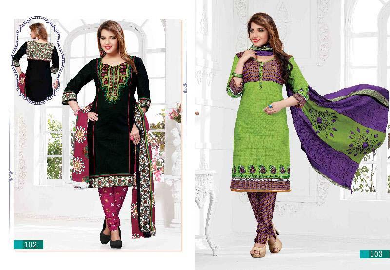 Cotton Unstitched  Churidar Suits