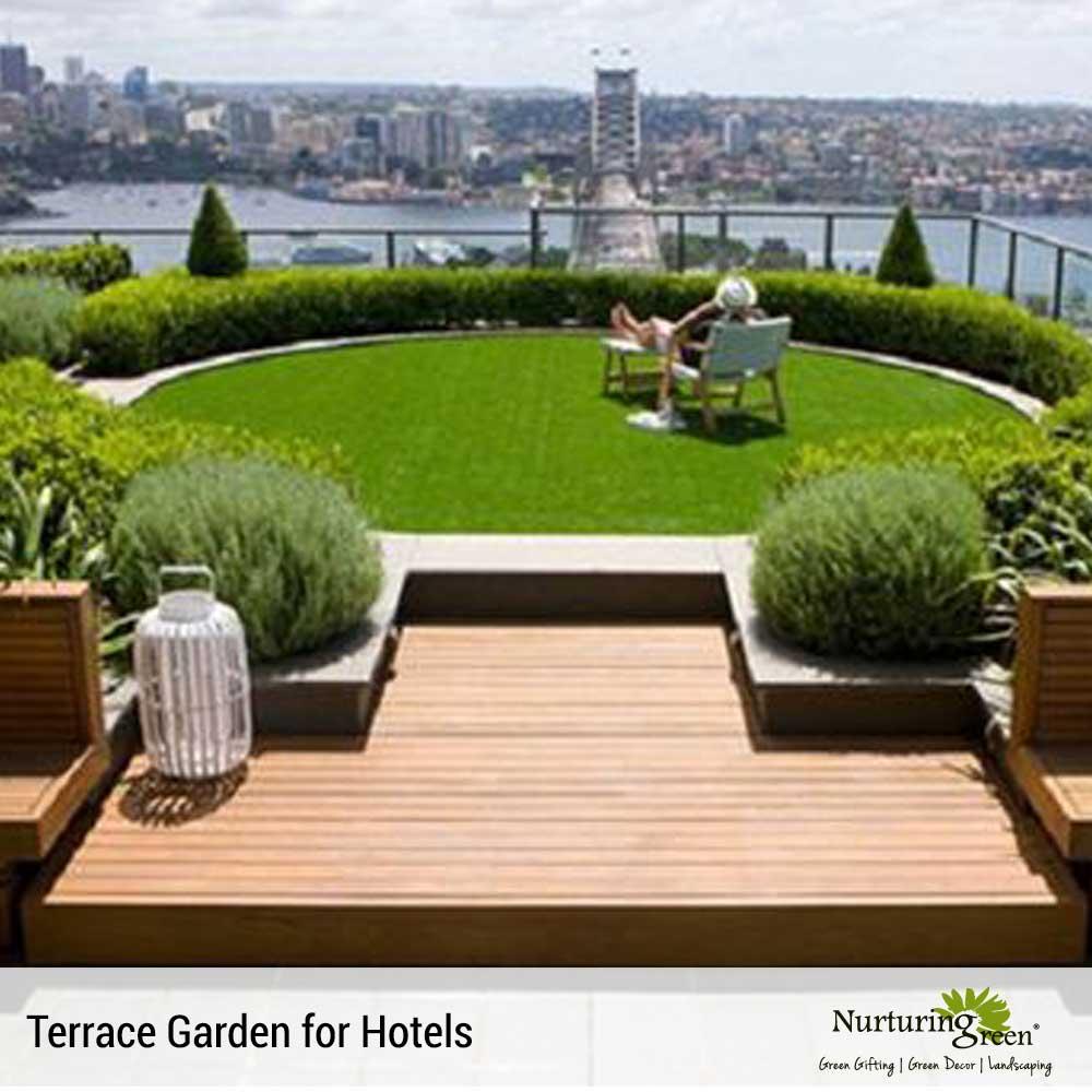 terrace garden design in uttar pradesh india by