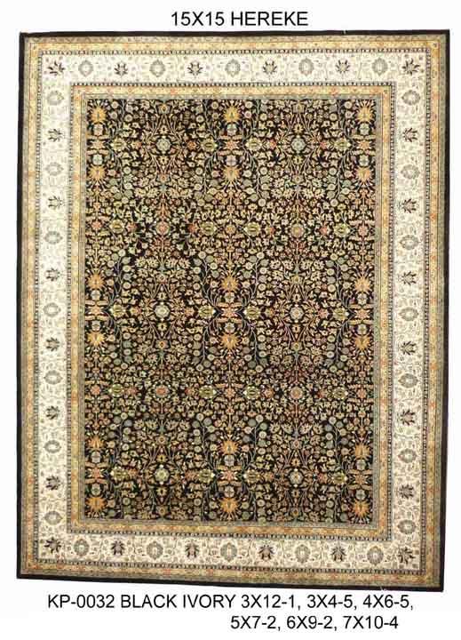 Woollen Carpets (KP-0032 BLACK IVORY)