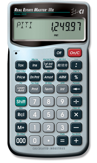 Real Estate Master IIIx Calculator
