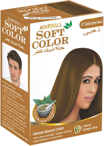 Buy Golden Brown Henna Hair Color From Agarwal Herbal Products Navi