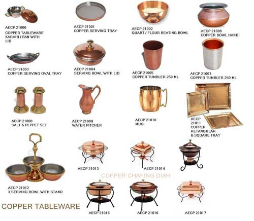 Indian Copper Tableware  sc 1 st  Exporters India & Indian Copper Tableware Manufacturer in Moradabad Uttar Pradesh ...