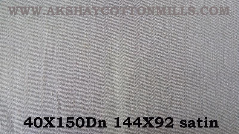 Grey Satin Fabric